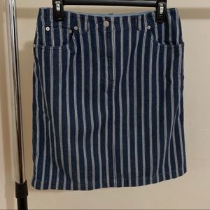 Blue and white striped Talbots skirt size 10
